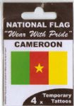 Cameroon Country Flag Tattoos.